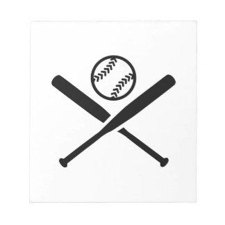Palos del softball bloc de notas