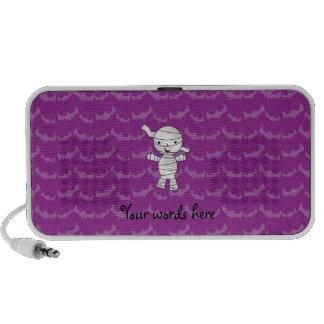 Palos lindos de la púrpura de la momia altavoces de viaje