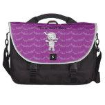 Palos lindos de la púrpura de la momia bolsas para portatil