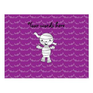 Palos lindos de la púrpura de la momia postales