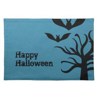 Palos misteriosos Halloween Placemat, azul Mantel Individual