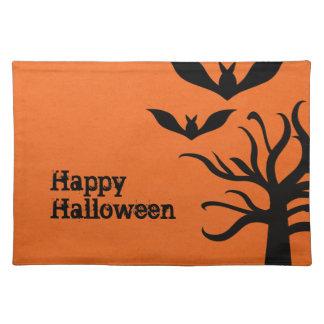 Palos misteriosos Halloween Placemat, naranja Manteles
