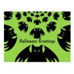 Palos negros lindos y tontos de Halloween Tarjeta Postal