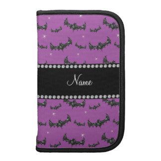 Palos púrpuras personalizados del brillo de la lil organizador