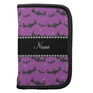 Palos púrpuras personalizados del brillo de la lil organizadores