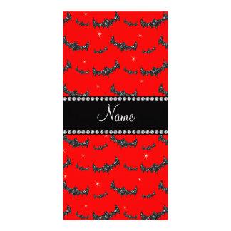 Palos rojos de neón conocidos personalizados del tarjeta fotografica personalizada