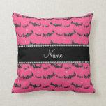 Palos rosados conocidos personalizados del brillo almohadas