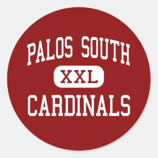Palos South - Cardinals - Middle - Palos Park Classic Round Sticker