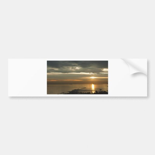 Palos Verde Sun Rise Car Bumper Sticker