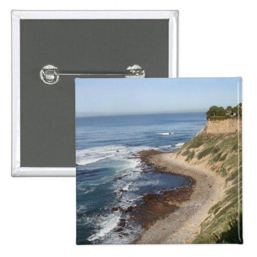 Palos Verdes, California Pin Cuadrada 5 Cm