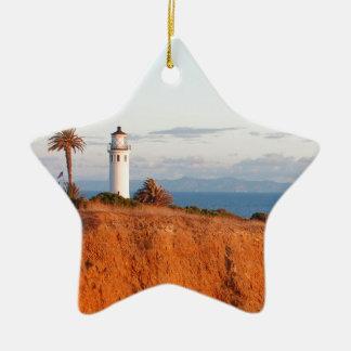 Palos Verdes Lighthouse Ceramic Ornament