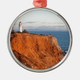 Palos Verdes Lighthouse Metal Ornament
