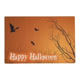 Palos y árboles - Placemat laminado de Halloween Tapete Individual