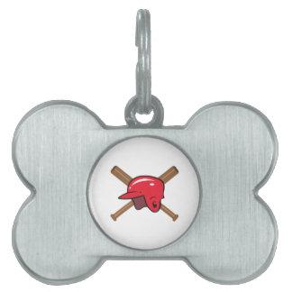 Palos y casco placas mascota