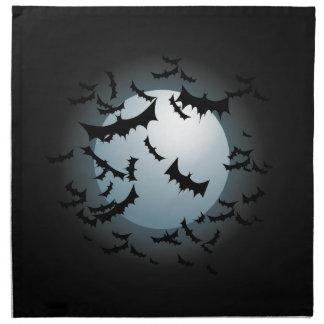 Palos y luna de Halloween Servilleta Imprimida