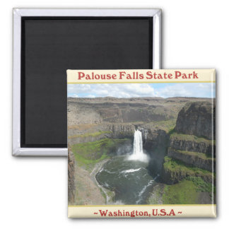 PALOUSE FALLS STATE PARK WATERFALLS OF WASHINGTON 2 INCH SQUARE MAGNET