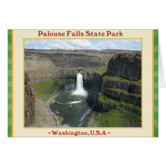 PALOUSE FALLS STATE PARK WATERFALLS OF WASHINGTON CARD
