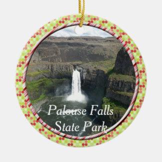 PALOUSE FALLS STATE PARK WATERFALLS OF WASHINGTON CERAMIC ORNAMENT