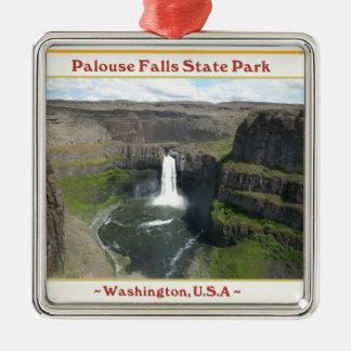 PALOUSE FALLS STATE PARK WATERFALLS OF WASHINGTON METAL ORNAMENT