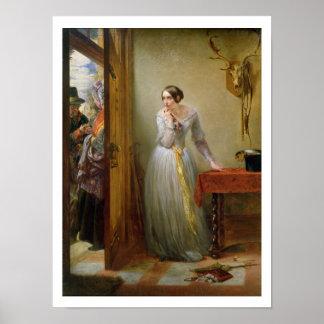 Palpitación, 1844 (aceite en lona) póster