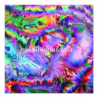 """Palpitaciones coloridas invitación 5.25"""" x 5.25"""""""