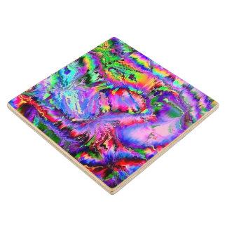 palpitaciones coloridas posavasos de arce