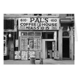 Pal's Coffee House, 1939 Card