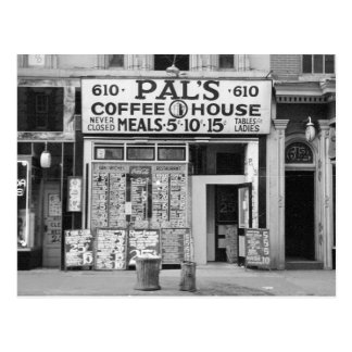 Pal's Coffee House, 1939 Postcard