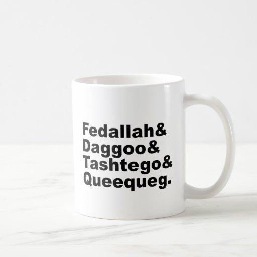 Pals de Fedallah Daggoo Tashtego Queequeg el | Taza De Café