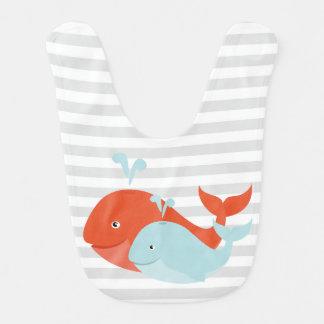 Pals de la ballena baberos de bebé