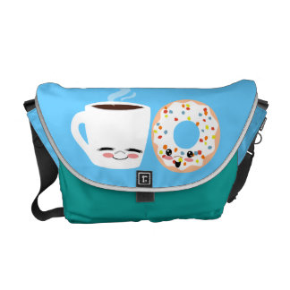Pals del café y del buñuelo bolsas de mensajeria