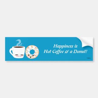 Pals del café y del buñuelo pegatina para auto