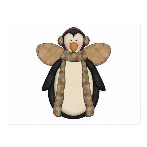 Pals del pingüino · Ángel del pingüino Tarjeta Postal