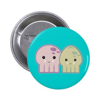 pals del pulpo y del calamar pin redondo de 2 pulgadas
