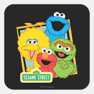 Pals del Sesame Street Pegatina Cuadrada