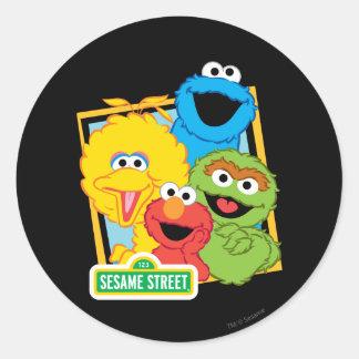 Pals del Sesame Street Pegatina Redonda