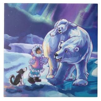 Pals polares azulejo cuadrado grande