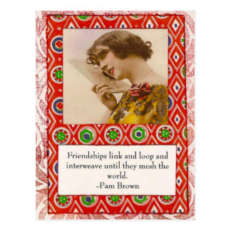 Pam Brown Friendship Quote Postcard