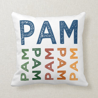 Pam Cute Colorful Throw Pillow