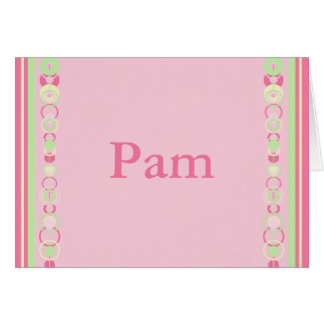 Pam Modern Circles Custom Name Card