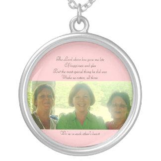 Pam, Patty & Angie Round Pendant Necklace