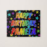 "[ Thumbnail: ""Pamela"" First Name, Fun ""Happy Birthday"" Jigsaw Puzzle ]"
