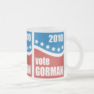 Pamela Gorman 2010 Frosted Glass Coffee Mug