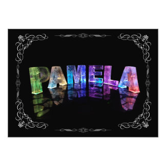 Pamela  - The Name Pamela in 3D Lights (Photograph Photo Print