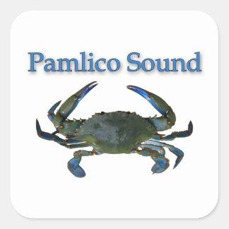 Pamlico Sound Blue Crab Square Sticker
