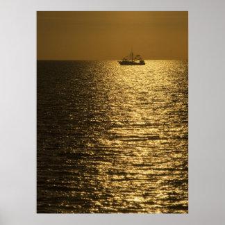 Pamlico Sound Sunset Poster