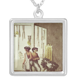 Pampa Indians at a Store in the Indian Market Personalized Necklace