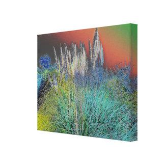 Pampas Grass Solarized - Digital Manipulation Canvas Print