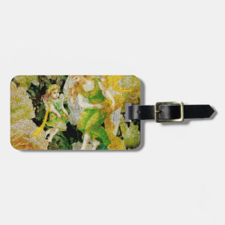 Pamper - Two angels amongst the flowers. Bag Tag
