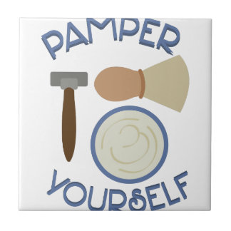 Pamper Yourself Small Square Tile